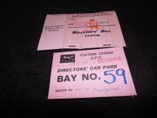 Carlisle United v Rochdale, 1987/88 [ticket]
